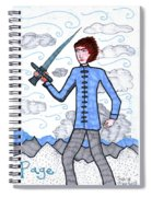 Tarot Of The Younger Self Page Of Swords Spiral Notebook