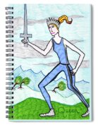 Tarot Of The Younger Self Queen Of Swords Spiral Notebook