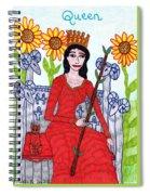 Tarot Of The Younger Self Queen Of Wands Spiral Notebook