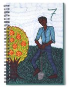 Tarot Of The Younger Self Seven Of Pentacles Spiral Notebook