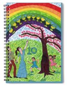 Tarot Of The Younger Self Ten Of Cups Spiral Notebook
