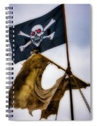 Tattered Sail And Pirate Flag Spiral Notebook