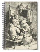 Tavern Man Caressing A Woman Spiral Notebook