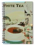Tea Collage Poster Spiral Notebook