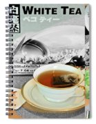 Tea Collage With Brush  Spiral Notebook
