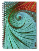 Teal And Red Spiral Notebook