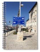 Tel-aviv Jaffa Road Sign Spiral Notebook