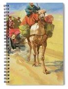 Ten Thousand Mile Motor Race Camel Train Spiral Notebook