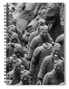 Terra Cotta Warriors In Black And White, Xian, China Spiral Notebook