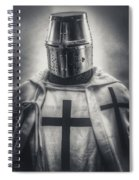 Teutonic Knight Black And White Spiral Notebook