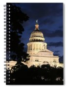 Texas State Capital Dawn Panorama Spiral Notebook