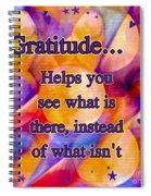 Text Art Gratitude Spiral Notebook