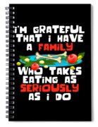 27b7ad7e96 Thanksgiving Shirt Funny Family Dinner Turkey Devotion Quote Spiral Notebook