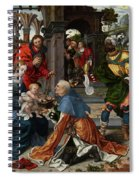 The Adoration Of The Magi With Donor  Spiral Notebook