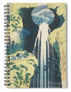 The Amida Waterfall In The Province Of Kiso  Spiral Notebook