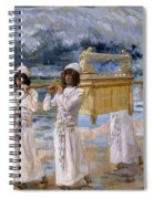 The Ark Passes Over The Jordan, 1902 Spiral Notebook