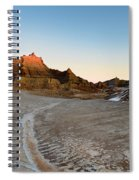 The Badlands And A Sunrise Spiral Notebook