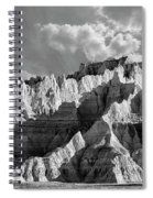 The Badlands In Black And White Spiral Notebook