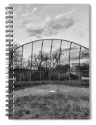 The Baseball Field Black And White Spiral Notebook
