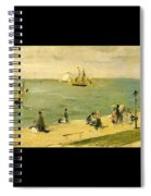The Beach At Petit-dalles Also Known As On The Beach - 1873 - Virginia Museum Of Fine Arts Usa Spiral Notebook