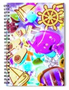 The Beach Below Spiral Notebook