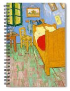 The Bedroom At Arles - Digital Remastered Edition Spiral Notebook