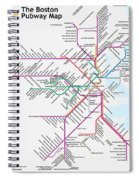 The Boston Pubway Map Iv Spiral Notebook