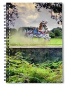 The Carousel Horses Escaping Spiral Notebook