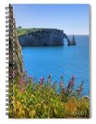 The Cliffs Of Etretat Spiral Notebook