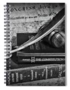The Constitutional Lawyer In Black And White Spiral Notebook