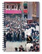 The Corpus Christi Procession Leaving The Church Of Santa Maria Del Mar - Digital Remastered Edition Spiral Notebook