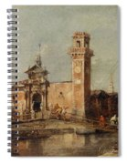 The Entrance To The Arsenal In Venice  Spiral Notebook