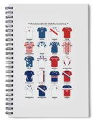 The Evolution Of The Us World Cup Soccer Jersey Spiral Notebook
