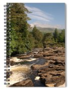 The Falls Of Dochart And Bridge At Killin In Scottish Highlands Spiral Notebook
