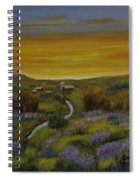 The Farm At Dusk Spiral Notebook