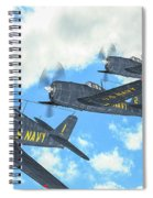 The First Blue Angels - Oil Spiral Notebook