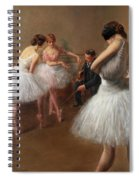 The First Pose, The Ballet Lesson Spiral Notebook