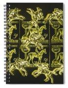 The Golden Race Spiral Notebook