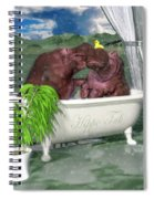 The Hippo Tub Spiral Notebook