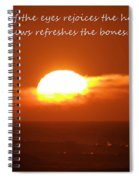 The Light Of The Eyes Spiral Notebook