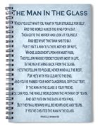 The Man In The Glass Poem - Blue Grey Spiral Notebook