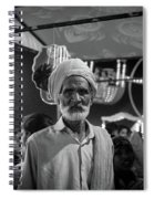 The Many Shades Of Delhi - Turbaned Man Spiral Notebook