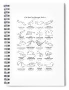 The Motogp Circuits Spiral Notebook