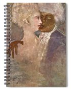 The Mulatto And The Sculpturesque White Woman 1913 Spiral Notebook