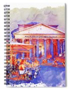The Pantheon Rome Watercolor Streetscape Spiral Notebook