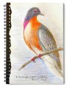 The Passenger Pigeon  Spiral Notebook