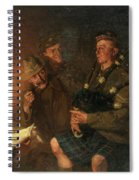 The Pipes By Firelight Spiral Notebook