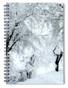 The Pure White Of Snow Spiral Notebook