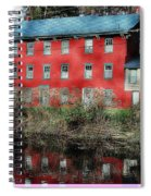 The Red House Along The Autumn Canal Spiral Notebook