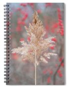 The Red Of Winter Spiral Notebook